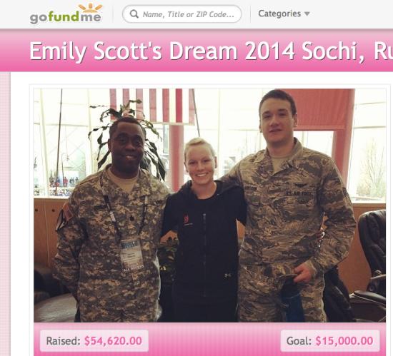 Emily's gofundme page